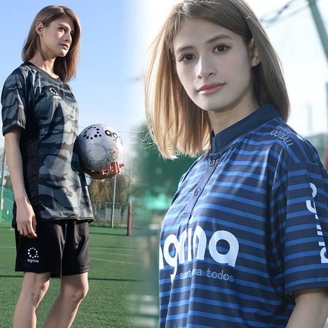 agrina(アグリナ)の女子フットサルプラシャツ
