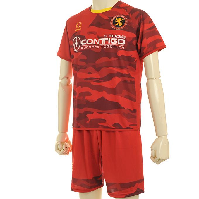 エンジョイスポーツクラブ サッカースクール 赤迷彩柄
