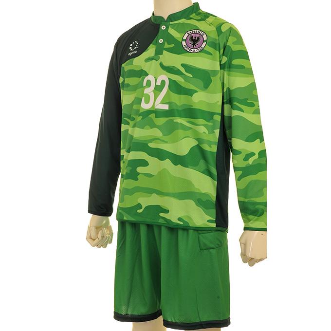 社会人サッカーチーム サンシンGK 緑迷彩