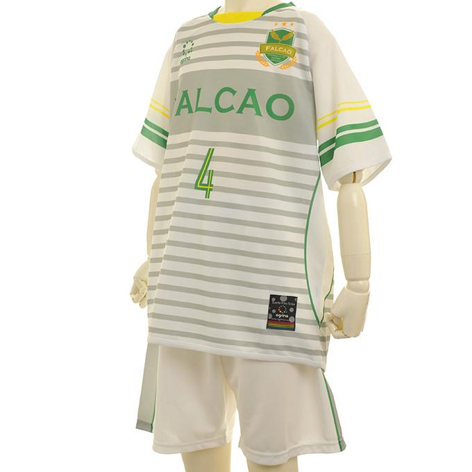 アグリナ 白地に緑・黄色の背番号が入ったボーダ昇華ユニ FALCAO FP