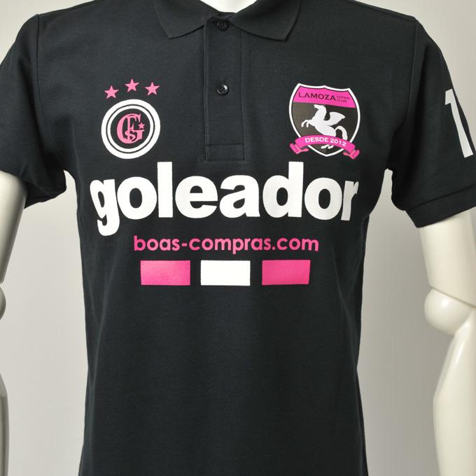 ゴレアドール黒のポロシャツ