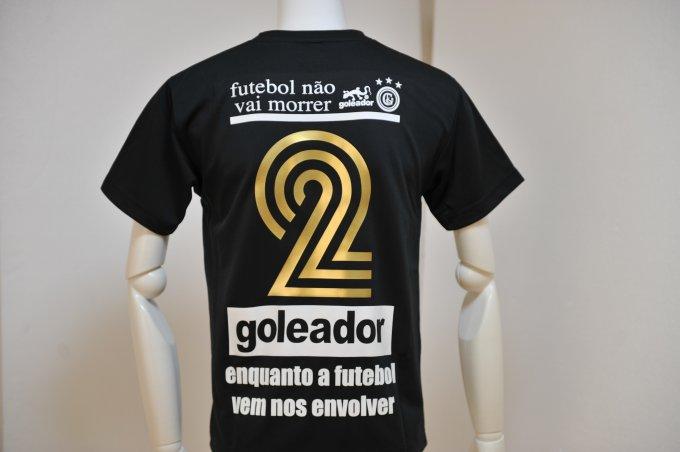 goleador プラクティスシャツ シンプルデザインにゴールドの背番号