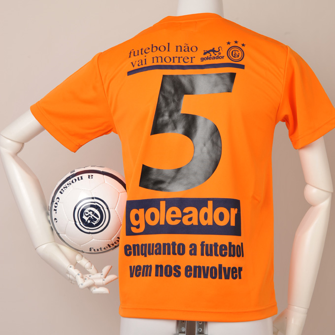 goleador鮮やかなオレンジにシンプルなデザインのプラクティスシャツ