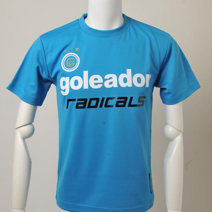 goleadorブルーのさわやかなプラクティクシャツ