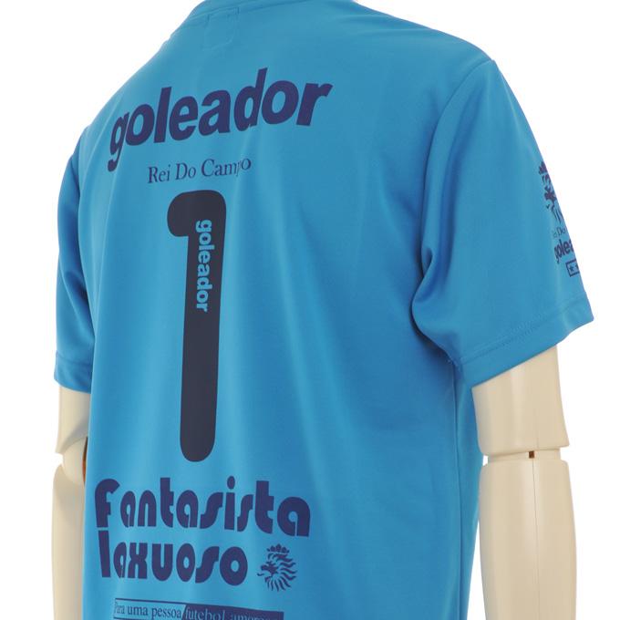 ゴレアドール ブルーとイエローのプラシャツにゴレアドールの背番号