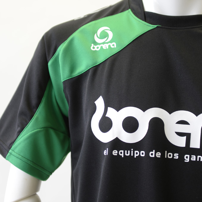 boneraブラック・グリーンのプラシャツ