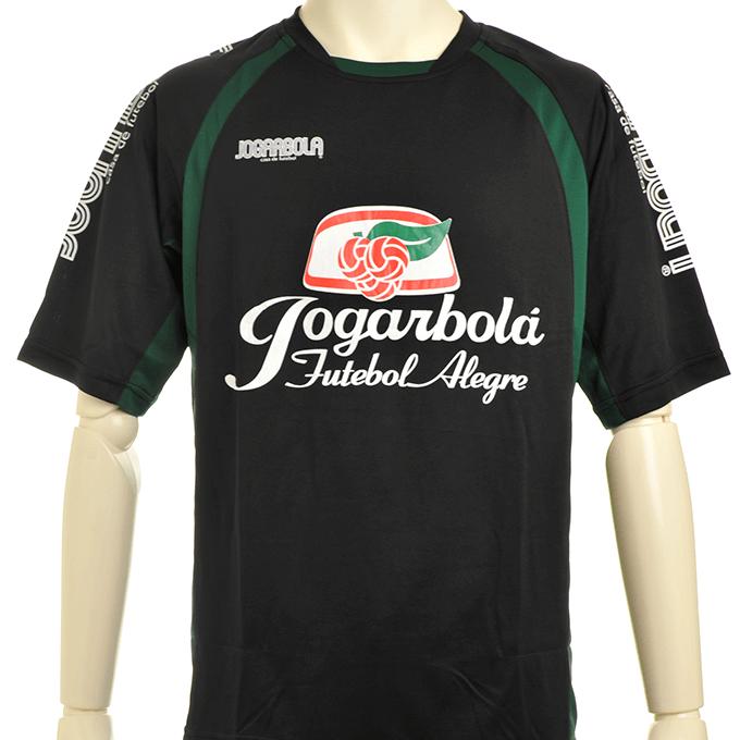 ジョガボーラ プラシャツにチームエンブレムのマーキング 黒