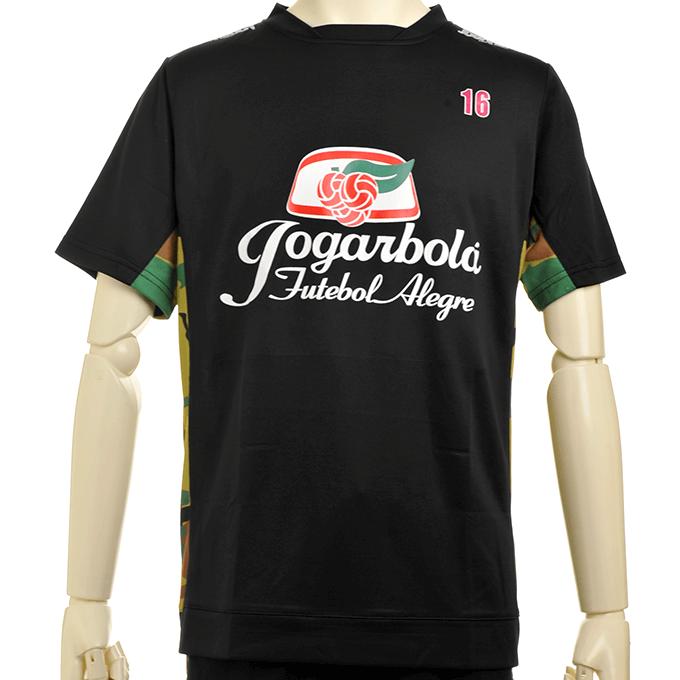 ジョガボーラ プラシャツにチームエンブレムのマーキング 黒×迷彩