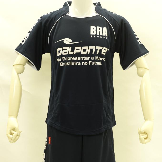 ダウポンチ 黒のパイピングプラシャツ