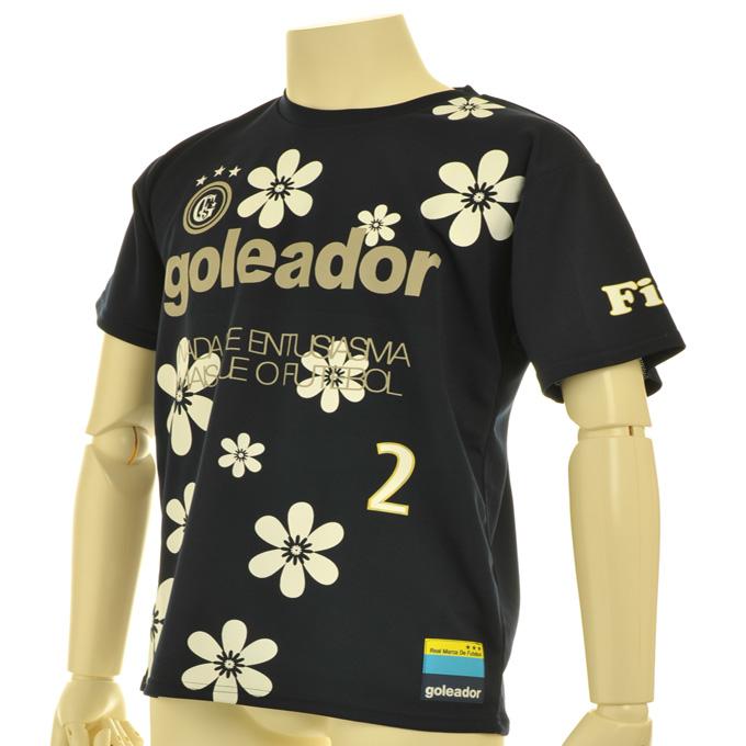 ゴレアドール ホワイトにゴールドのフチの背番号 花柄プラシャツ