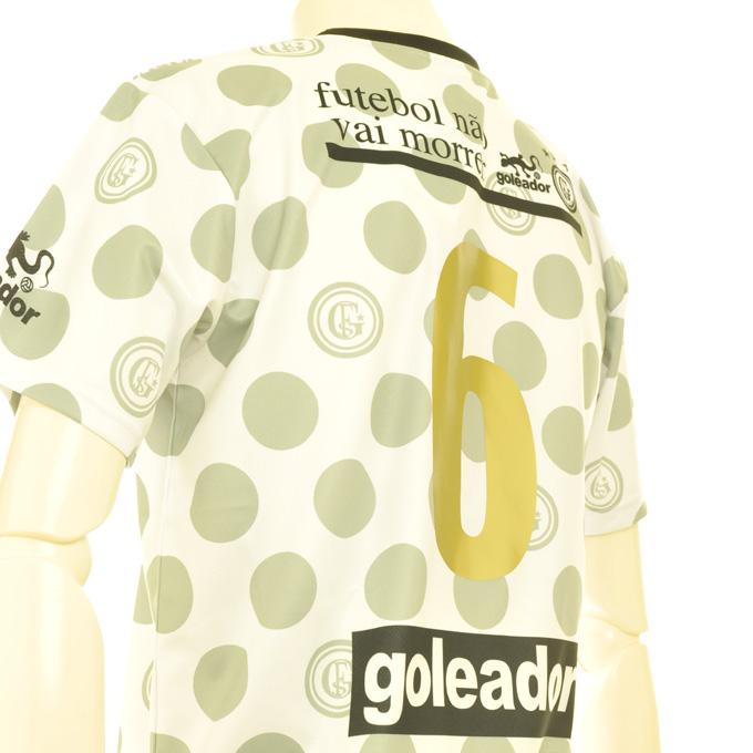 ゴレアドール 水玉柄のプラシャツにゴールド背番号