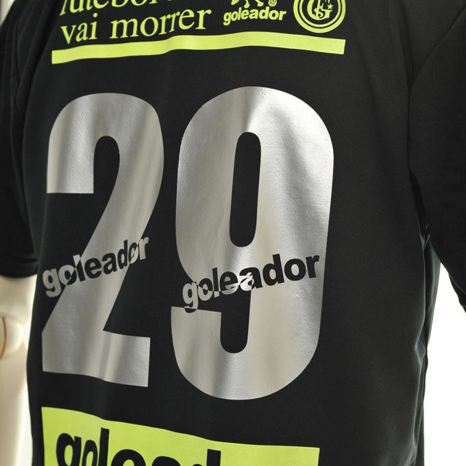 ゴレアドール ロゴ入りシルバー背番号 プラシャツ