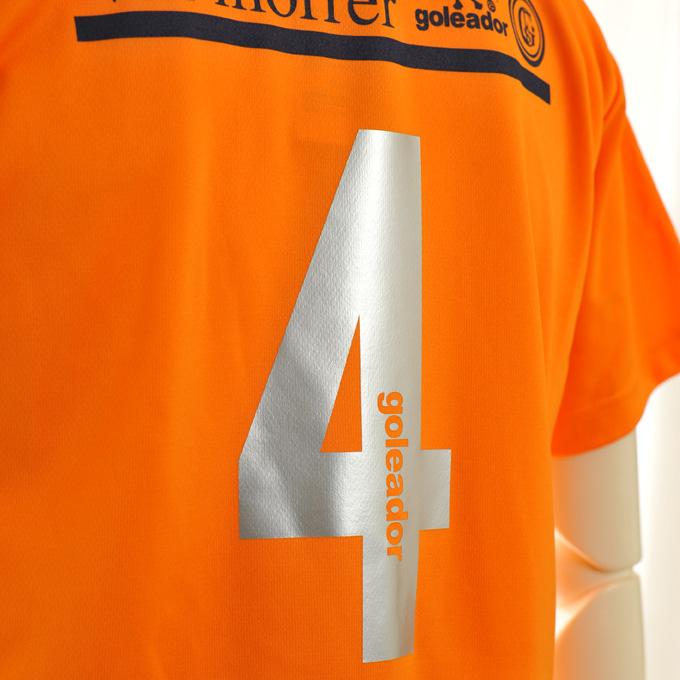 ゴレアドール 鮮やかなオレンジプラシャツ