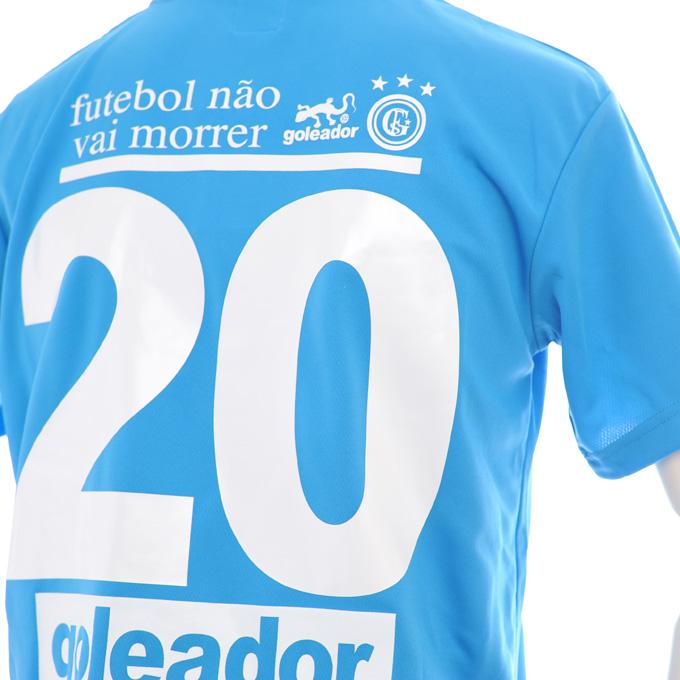 ゴレアドール 鮮やかなブルーのプラシャツに大きな背番号