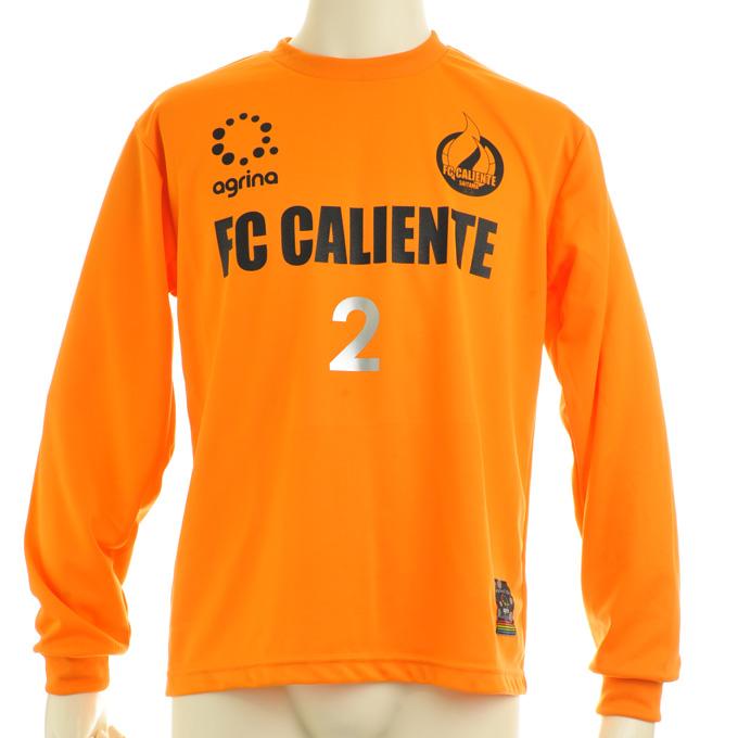 アグリナ 長袖オレンジプラシャツにシルバーナンバー