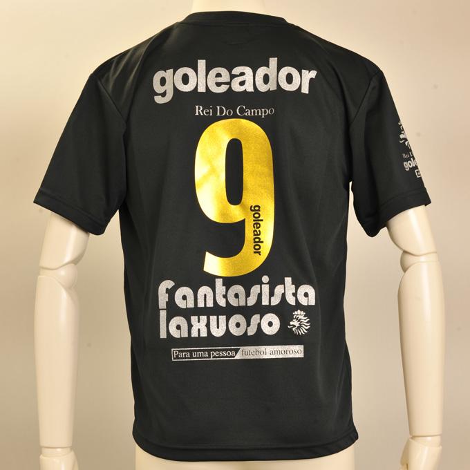 ゴレアドール ブラックプラシャツにロゴ入りゴールドナンバー