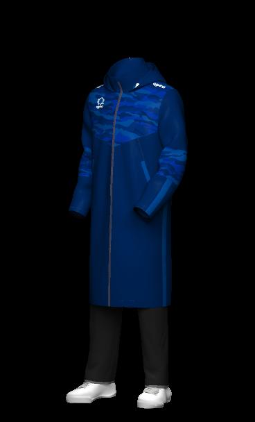 agrina(アグリナ)オリジナルデザインのセミオーダー昇華ベンチコート 3Dシミュレーション画像