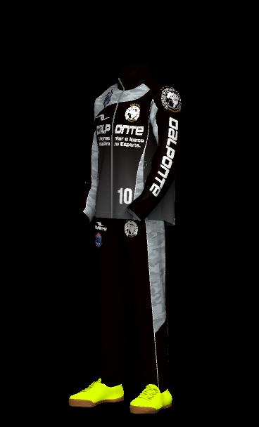 dalponte(ダウポンチ)ウィンドブレーカーのチームオーダー 3Dシミュレーション画像