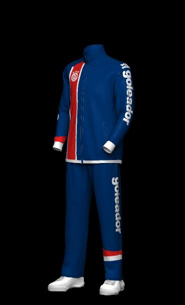 goleador(ゴレアドール)ウィンドブレーカーのチームオーダー 3Dシミュレーション画像