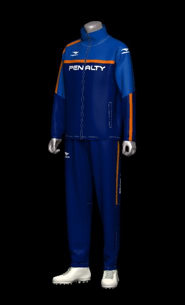 ペナルティ(penalty)フットサルジャージチームオーダー 3Dシミュレーション画像