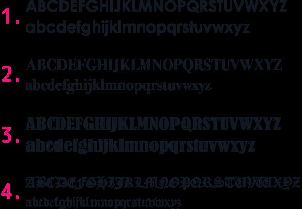 各エンブレムの使用フォントは変えることはできません